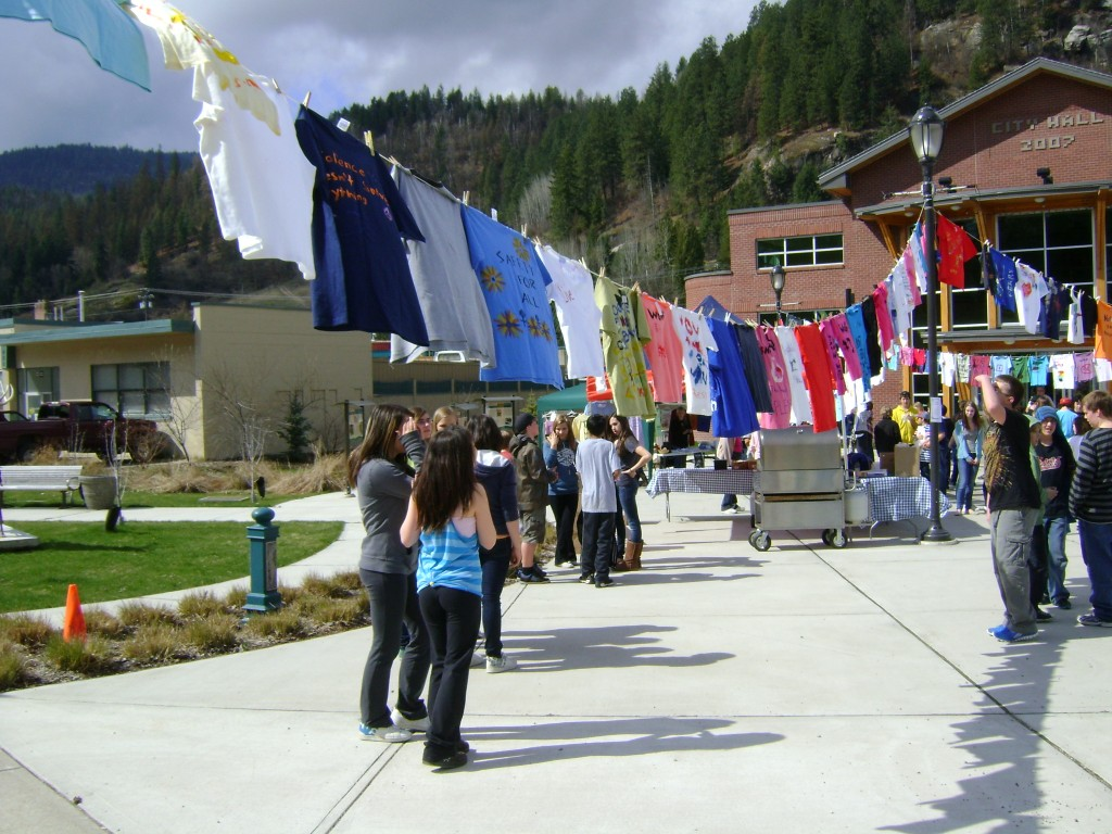 Clothesline Project at Spirit Square in Castlegar. (2012)